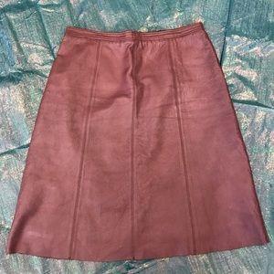 BCBG MaxAzria Pink Leather Skirt